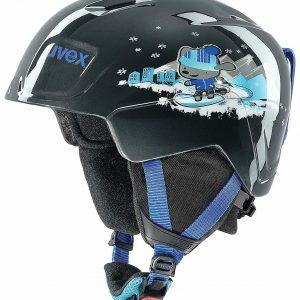 kids black ski helmet