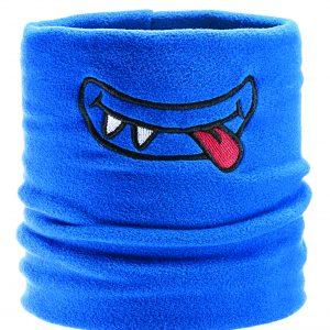 Blue monster ski fleece neck tube