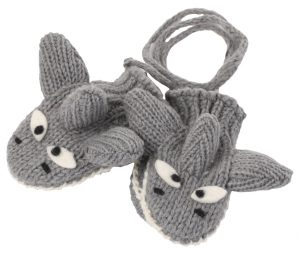 cute shark wool mittens