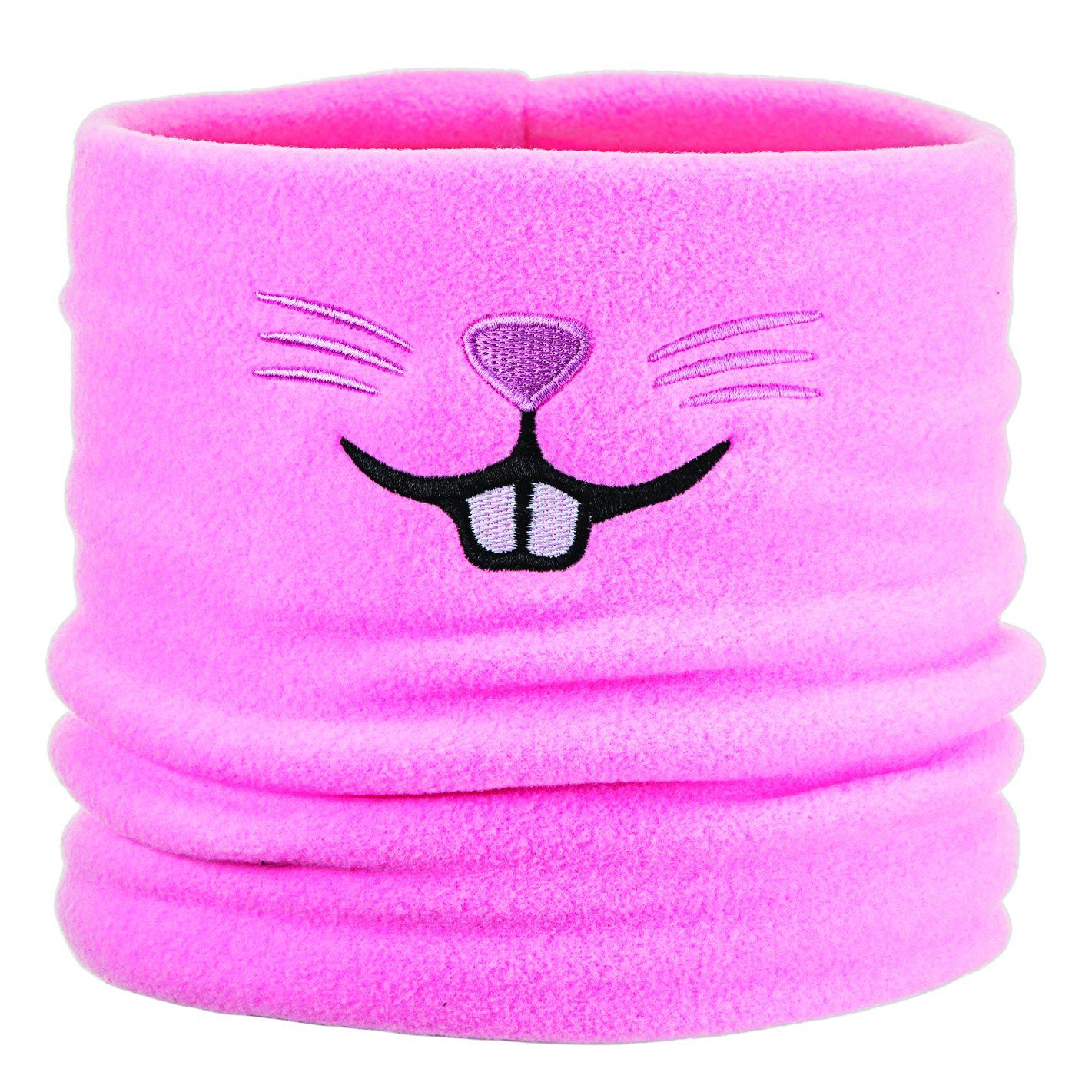 pink rabbit ski fleece neck tube