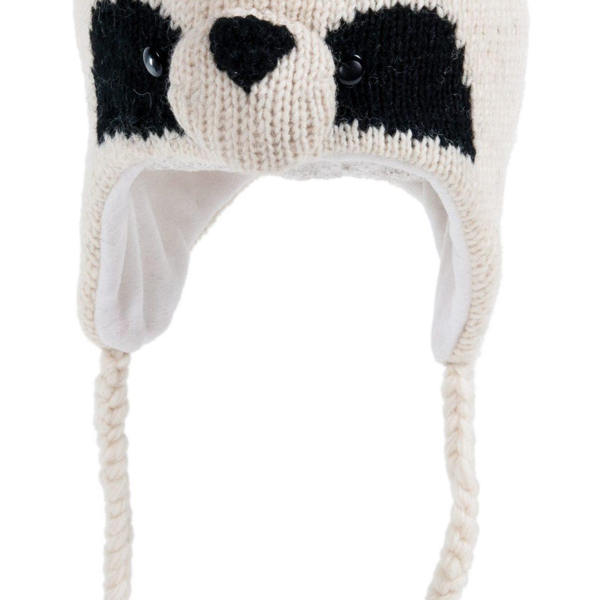 cute panda knitted hat