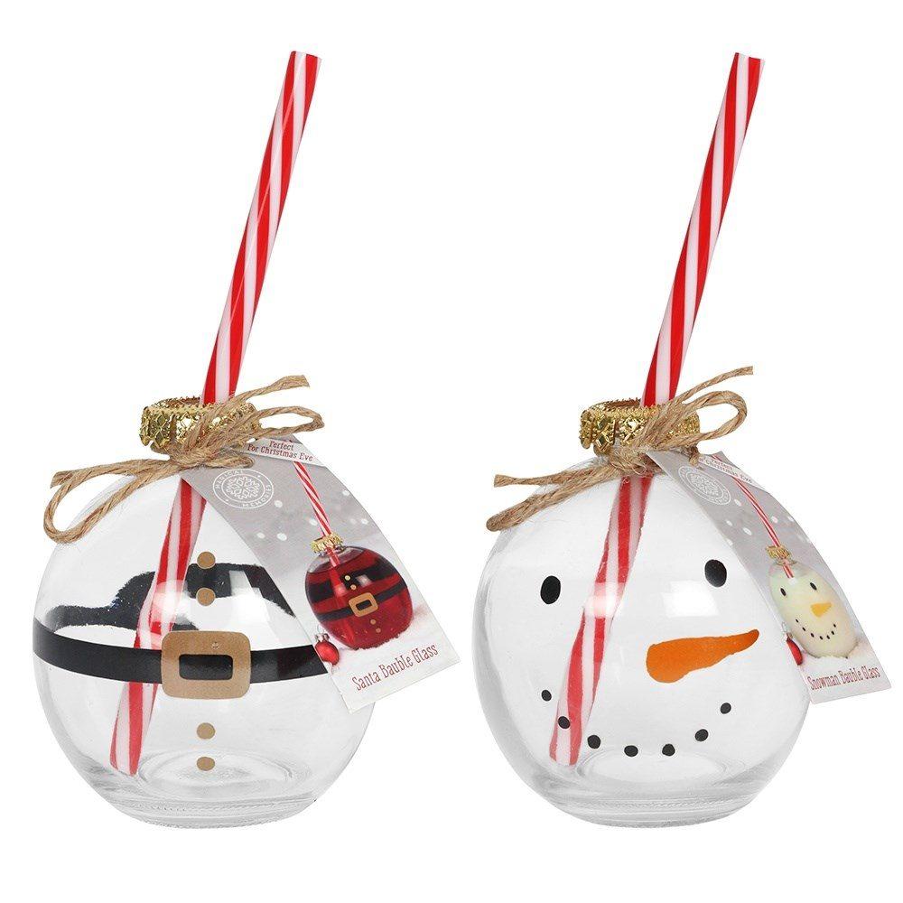 Santa & Snowman Glasses