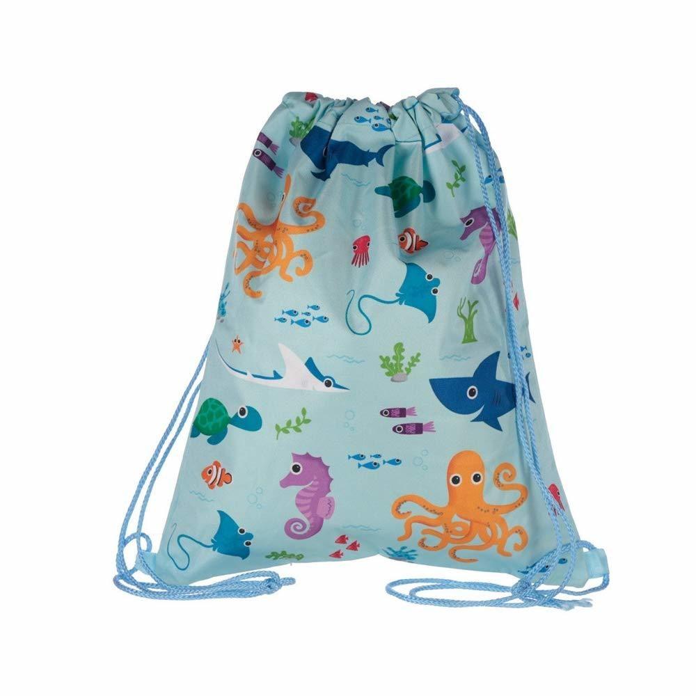 sea life drawstring bag