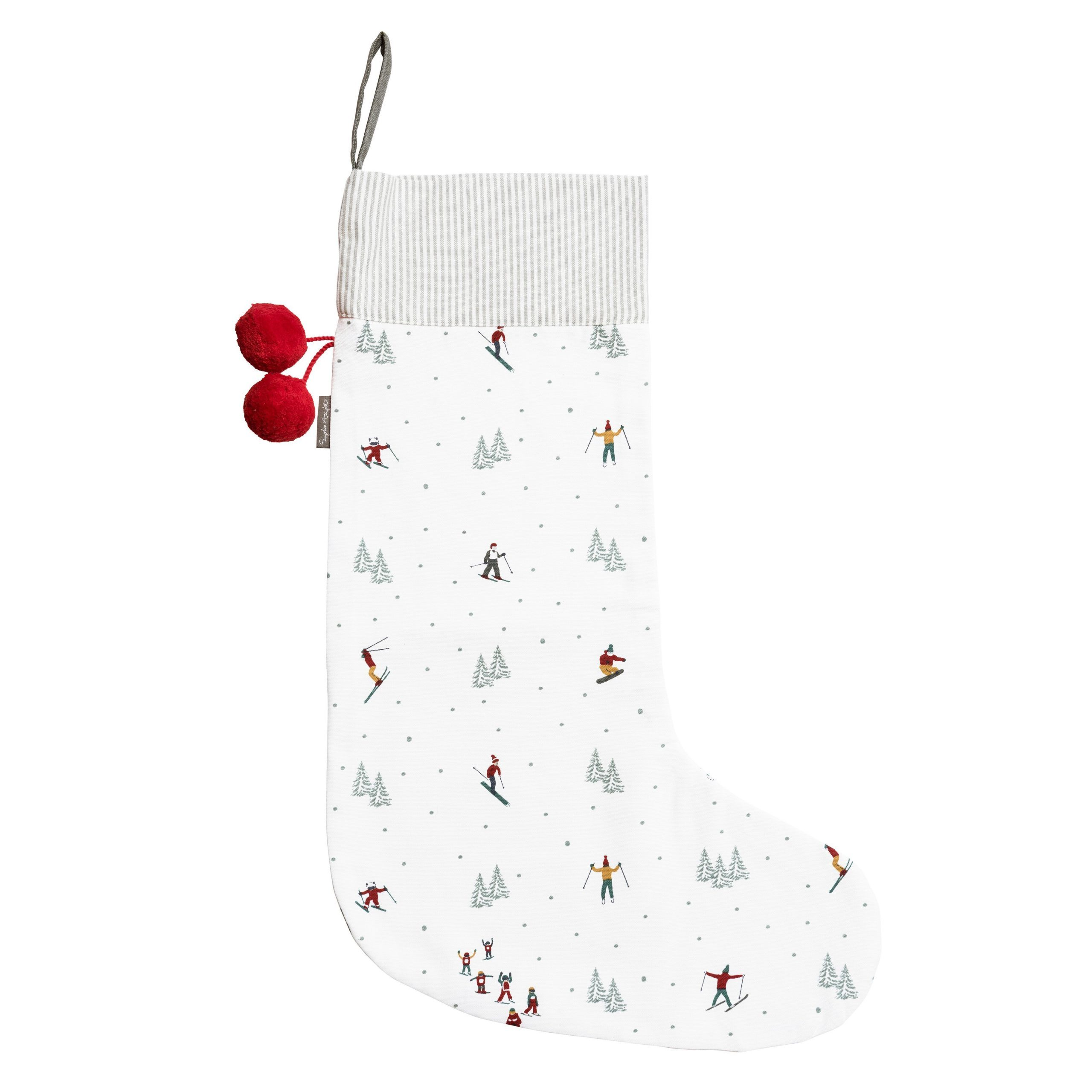 Large Ski Christmas Stocking