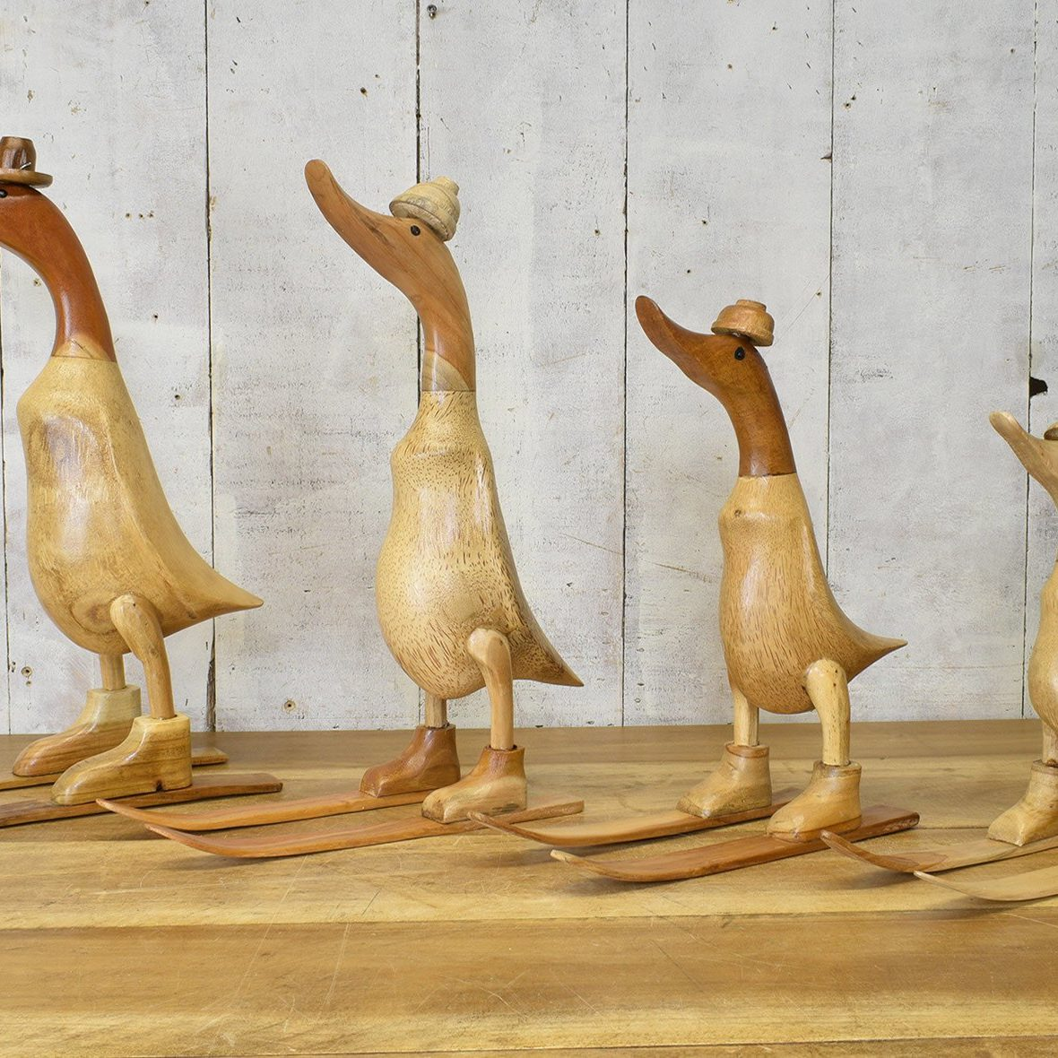 Natural Wood Skiing Duck