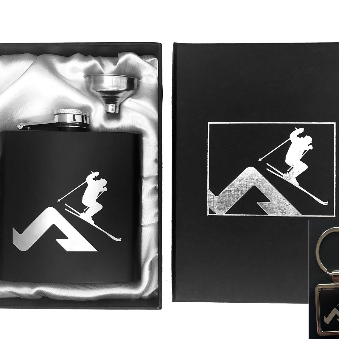Ski Hip Flask & Key Ring