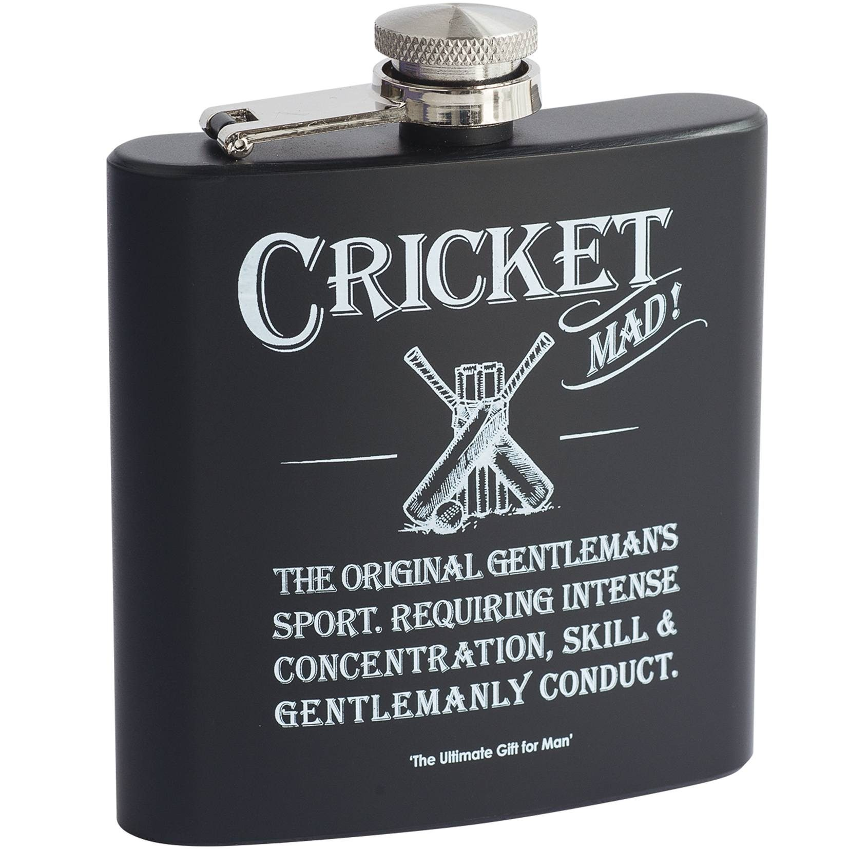 cricket hip flask