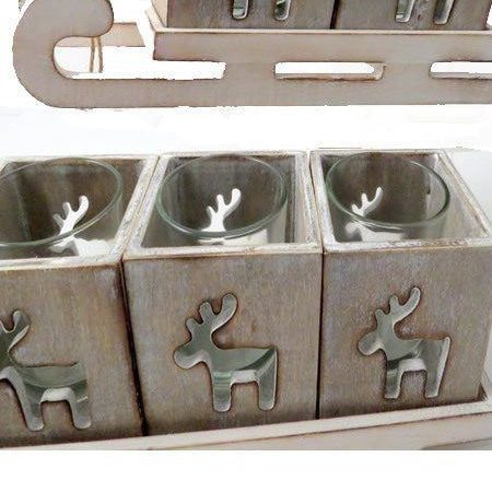 Reindeer Sleigh Candle Holder