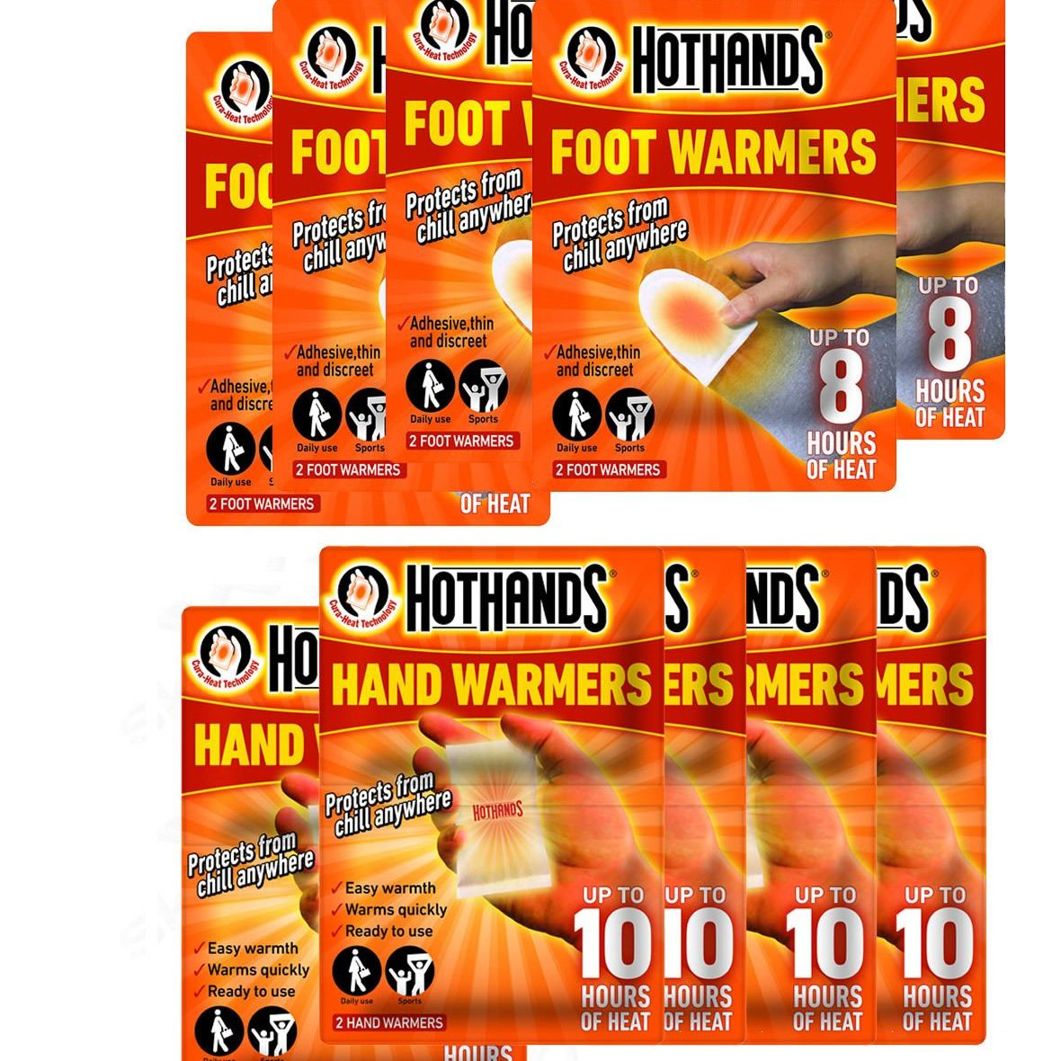 hothands hand and feet warmers pack
