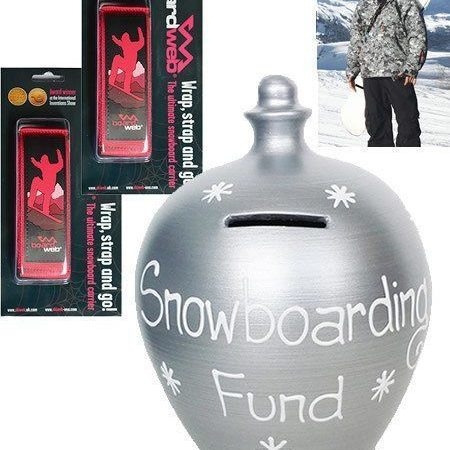 Snowboard Money Pot & 2 Snowboard Carriers-0