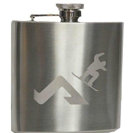 Snowboard hip flask