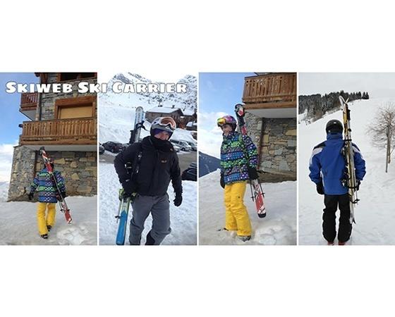 snow ski carrier - hands free ski carrier